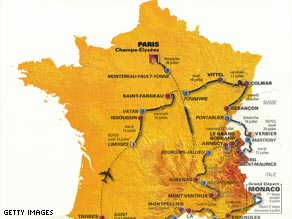 This year's Tour de France route will begin in Monaco, with 180 riders from 20 teams taking part.