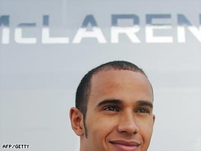 McLaren star Hamilton is defending his Formula One title this season.