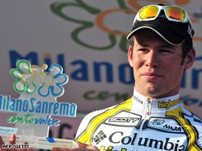 Cavendish was racing in the Milan-San Remo for the first time.