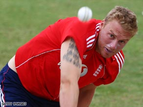 England star Andrew Flintoff is due to make his first appearance in the IPL next month.