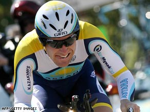 Leipheimer, above, gave Astana a lift after Armstrong's exit by winning the second stage in Spain.