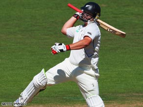 Ryder gave a jig of delight after reaching 200 but was out next ball in Napier.