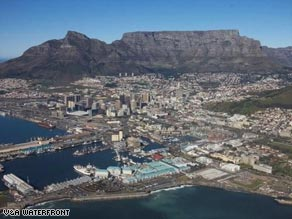 Lucky strike: The port city of Cape Town is set to benefit from several major sporting events
