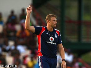 Andrew Flintoff took a late hat-trick to secure England a one-day series win.