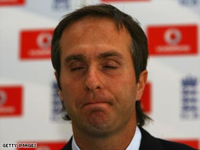 An emotional Vaughan gave up the England captaincy after the series defeat to South Africa.