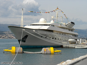 On show: The Antibes Yacht Show was a major success, despite the current financial climate