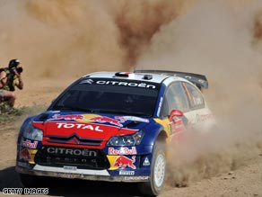 Frenchman Loeb is turning the 2009 World Rally Championship into a procession after five wins in a row.