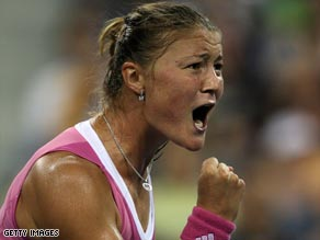 Dinara Safina celebrated her first match as world number one with a crushing firsat round victory in Stuttgart.