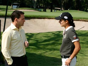 Living Golf's Justin Armsden interviewed Lorena Ochoa in Mexico during the early days of the swine flu outbreak