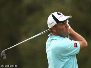 Levet plays an iron-shot approach during his second round of 67 in Girona.