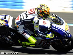 Rossi has now taken the lead in the MotoGP standings after victory in the Spanish Grand Prix at Jerez.