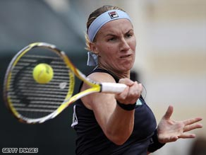 Kuznetsova is continuing the good form she showed at last week's Porsche Grand Prix in Stuttgart.