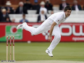 Anderson took three early wickets to leave West Indies reeling after the third day in Durham.