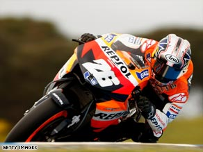 Dani Pedrosa looks the man to beat this weekend after the Spaniard took pole for the French MotoGP.