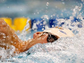 Phelps won two events on his competitive return after completing a three-month ban.