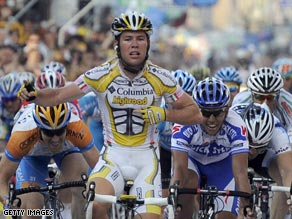 Cavendish again proves he is the fastest man in the peloton as he wins a controversial stage in Milan.