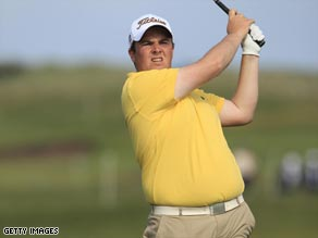 Local amateur Lowry continues to show the professionals how to handle the County Louth links course.