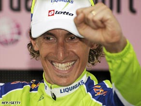 Pellizotti was delighted to claim stage victory on the feared Blockhaus climb.