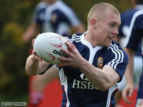 Keith Earls is the youngest player in the British and Irish Lions' touring squad to South Africa.