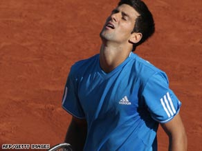 Novak Djokovic had been seeking to go better than his semifinal defeats in the past two years.