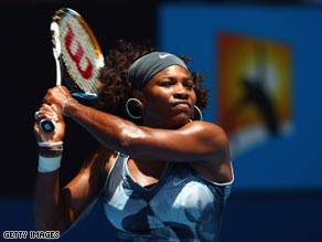 Serena returned to her imperious best against the unfortunate Wozniak.