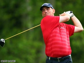 Veteran Dane Thomas Bjorn is among a group of four players who lead the Wales Open on Thursday.