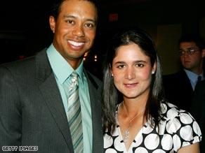 Tiger Woods (L) and Lorena Ochoa (R)