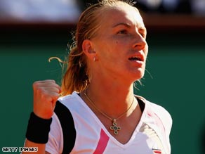 Kuznetsova was made to battle all the way by Sam Stosur before reaching the French Open final.