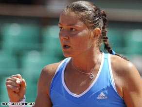 Safina is one win away from her first grand slam victory after defeating Dominika Cibulkova in straight sets.