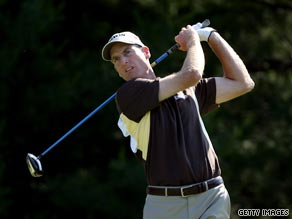 Furyk birdied the final hole to share the lead after the second round of the Memorial tournament.
