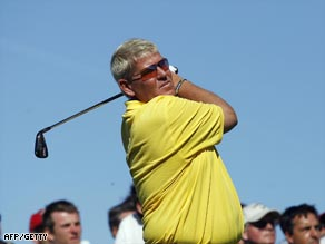 Daly attracted a sizeable gallery for his return to golfing action in America.