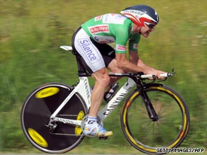 Evans leads the Dauphine Libere after finishing second in Wednesday's time-trial.