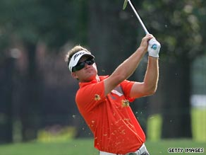 Gay was fortunate to finish his second round in the St Jude Classic before the heavens opened.