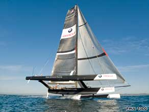 America's Cup team Oracle has trialed a trimaran which it revealed in September 2008