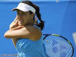 Former world number one Ivanovic suffered a big setback in her Wimbledon preparations.