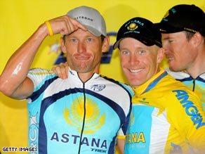 Armstrong (left)  will be backed by a strong Astana squad in Tour de France.