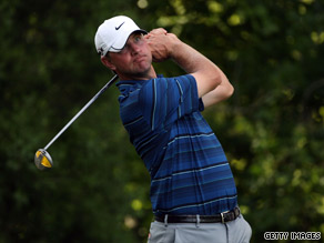 Glover was one stroke ahead of his rivals when play was finally halted because of darkness on Friday.