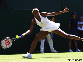 Venus is through to the second round at Wimbledon after a straight sets victory on Tuesday.
