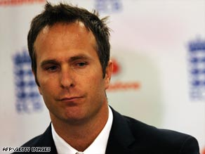 Former England cricket captain Vaughan looks deep in thought after announcing his decision to quit cricket.