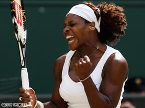 Serena prevented Venus from winning the first Wimbledon women's hat-trick since Steffi Graf in 1991-93.