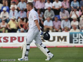 Flintoff showed glimpses of his best form with bat and ball in Cardiff.