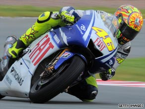 World champion Valentino Rossi will seek to extend his championship lead in Sunday's German Grand Prix.