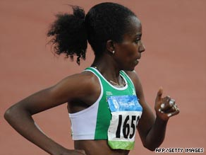 Dibaba is competing in London in preparation for next month's world athletics championships in Berlin.