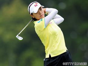 Na Yeon Choi lost in a three-way playoff with Helen Afredsson and Angela Park at the Evian Masters last year.