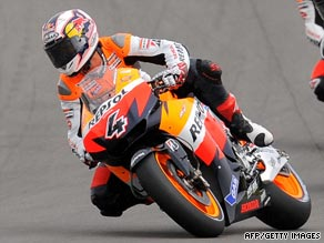 Andrea Dovioso claimed his first race victory in only his second season of competing in MotoGP.