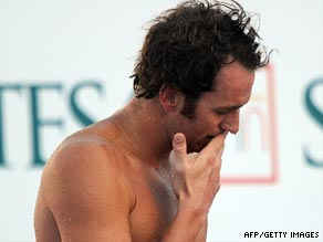 Defending world champion Peirsol reflects on missing out on the final of the men's 100m backstroke.