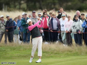 Matthew swung sweetly during her second round 67 at Lytham.
