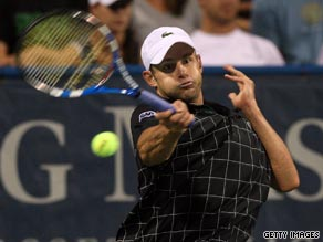 Andy Roddick will face rising American star Sam Querrey in the last eight in Washington.