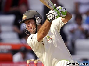 Ponting hit a superb 78 as Australia took complete control on the opening day of the fourth Test at Headingley.