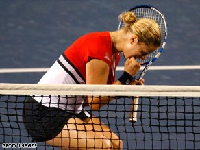 Clijsters was overjoyed after winning on her comeback to the WTA Tour.